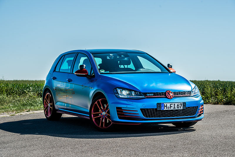 Golf 7 GTD azurblau metallic matt