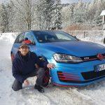 Führerschein Klasse B im Winter bei Schnee